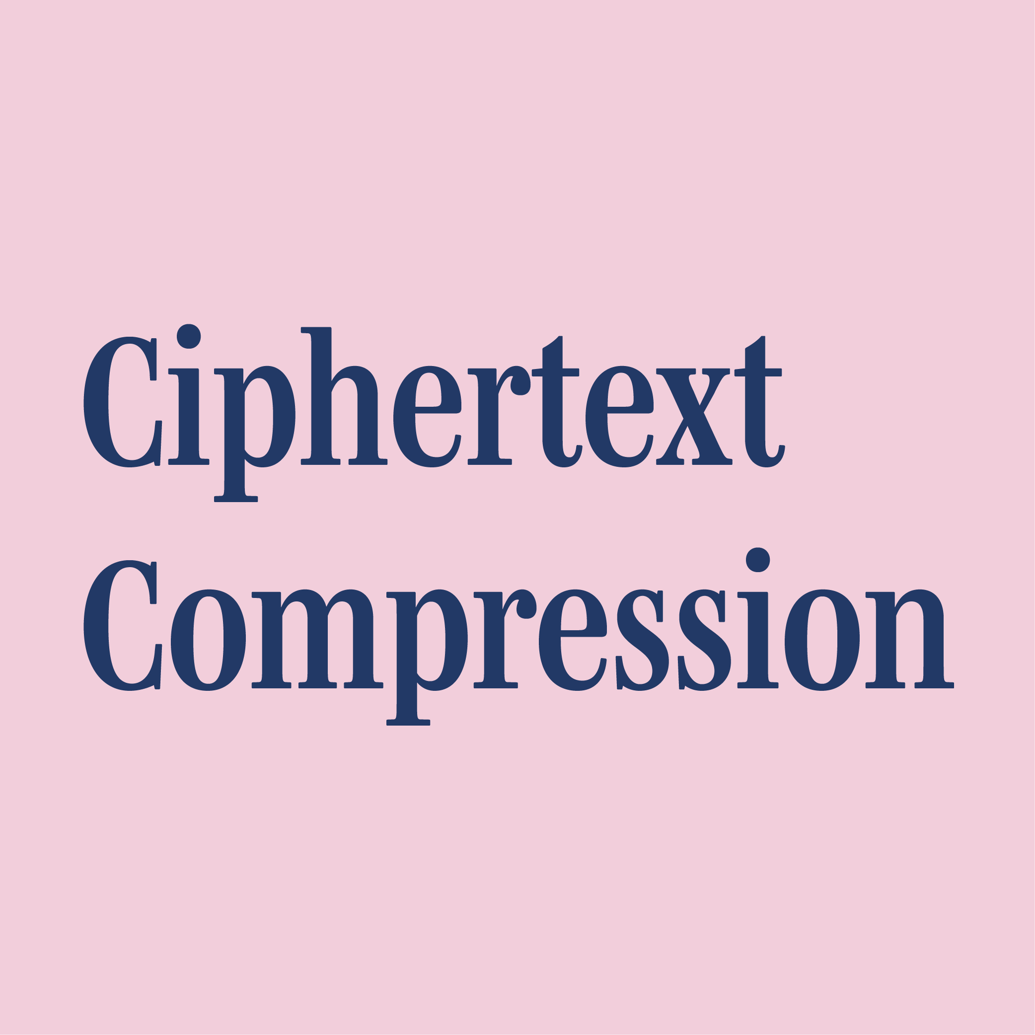 Logo with the text 'Ciphertext Compression'.